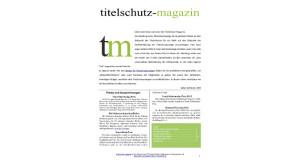Titelschutz MAgazin Ausgabe Juni