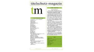 Titelschutz Magazin Juni 2017