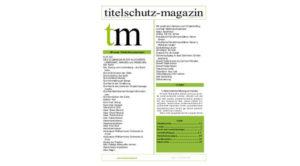 Titelschutz Magazin Juli 2017