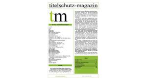 Cover Titelchutz Magazin Ausgabe August 2017