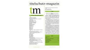 Titelschutz-Magazin Ausgbe September 2017