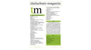 Cover Titelchutz Magazin Ausgabe Oktober 2017