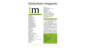 Cover Titelschutz Magazin November 2017