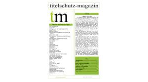 Cover Titelschutz Magazin Dezember 2017