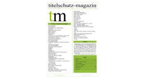 Cover Titelschutz Magazin Januar 2018