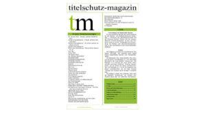 Cover Titelschutz Magazin Februar 2018