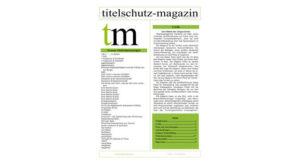 Cover Titelschutz Magazin Augbe März 2018