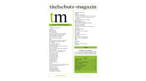 Cover Titelschutz Magazin April 2018
