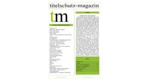 Cover Titeslchutz Magazin Juli 2018