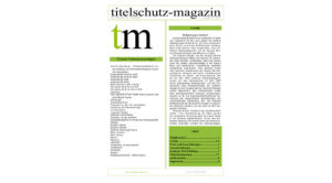 Titeslchutz Magazin September 2018